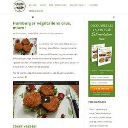 Hamburger végétaliens crus, miam !
