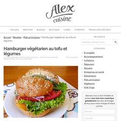Hamburger végétarien au tofu et légumes