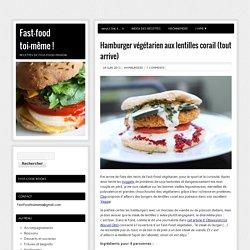 Hamburger végétarien aux lentilles corail