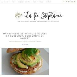 Hamburgers de haricots rouges et boulgour, concombre et avocat - La Fée Stéphanie