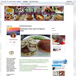 Hamburgers César garnis d'oignons grillés