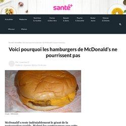 Voici pourquoi les hamburgers de McDonald's ne pourrissent pas