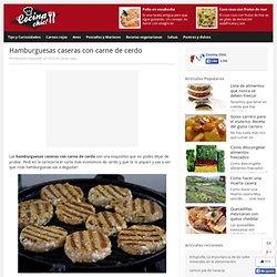 Hamburguesas caseras con carne de cerdo