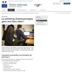 Le phishing (hameçonnage), gare aux faux sites! / Cybercrime