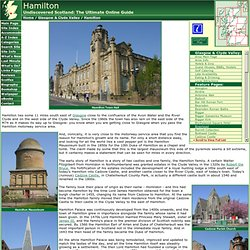 Hamilton Feature Page on Undiscovered Scotland