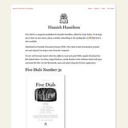 Hamish Hamilton: Five Dials