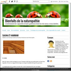SAUNA ET HAMMAM - Bienfaits de la naturopathie