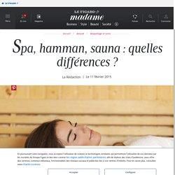 Spa, hamman, sauna : quelles différences ? - Madame Figaro