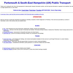 E Hants Public Transport