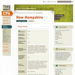 New Hampshire : ThisWayToCPA : AICPA