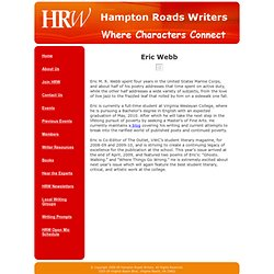 Hampton Roads Writers -- Eric Webb
