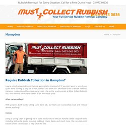 Rubbish Removal Hampton