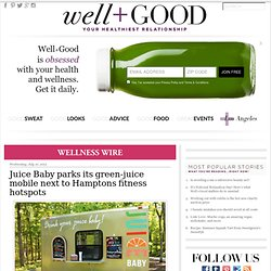 Juice Baby parks its green-juice mobile next to Hamptons fitness hotspots