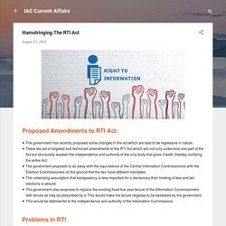 Hamstringing The RTI Act