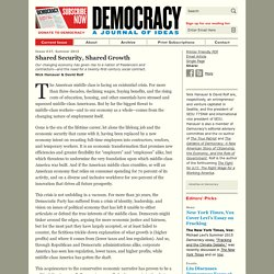 Nick Hanauer & David Rolf for Democracy Journal: Shared Security, Shared Growth