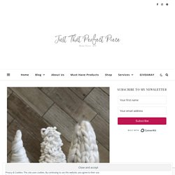 Hand Knit Chunky Yarn Tree-DIY · Just That Perfect Piece