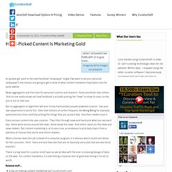 Hand-Picked Content Is Marketing Gold | Content Curation Software