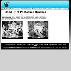 Hand Print Photoshop Brushes