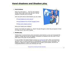 Hand shadows and Shadow play