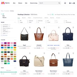 Handbags at Myntra