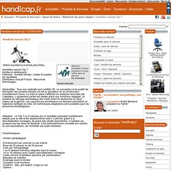 STRICKER Handbike manuel City 7 - Handicap.fr