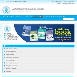 Asia Pacific Institute of Advanced Research