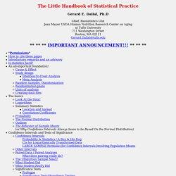 The Little Handbook of Statistical Practice