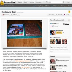 Handbound Book - Instructables - DIY, How To, craft