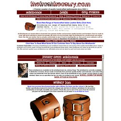 Johnny Depp Wristbands Cuffs, Elliott Smith Wristbands, Handcrafted Tan Leather Belts & Leather Accessories