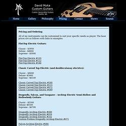 Myka Guitars - Handcrafted Custom Guitars - Options/Pricing, Seattle guitars, custom guitars, custom electric guitars, custom archtop guitars, custom acoustic guitars, custom semihollow guitars, custom hollowbody guitars, custom luthier, custom lutherie,