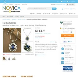 Pearl and lapis pendant necklace - Radiant Blue - NOVICA