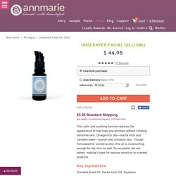 Handcrafted, Organic Unscented Facial Oil – Annmarie Skin Care