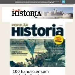 100 händelser som skakade Sverige