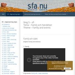 Sfi - steg 5 - familj och händelser - Svenska för alla - Swedish for all