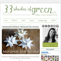 Paper Moravian Star Tutorial