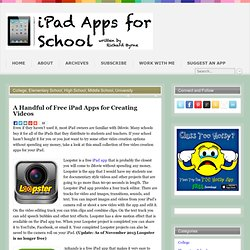 A Handful of Free iPad Apps for Creating Videos