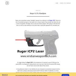 Ruger LCP2 Handgun - viridianweapontech