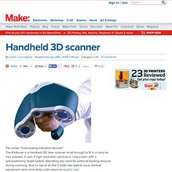 Online : Handheld 3D scanner