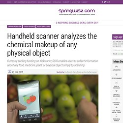 Handheld scanner analyzes the chemical makeup of any physical object