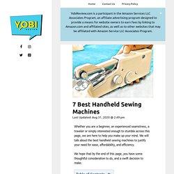 7 Best Handheld Sewing Machines 2020 - Yobi Review