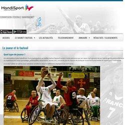 Le joueur et le fauteuil - France Handibasket - Fédération Française Handisport Commission Fédérale Handibasket