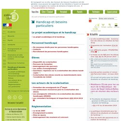 Handicapetbesoins particuliers