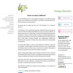 Portage de l'enfant avec handicap - Portage en écharpe à Bruxelles Belgique