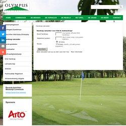 Handicap calculator - Website