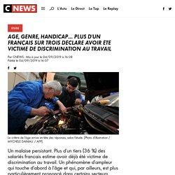 Age, genre, handicap... plus d'un Français sur trois déclare avoir été victime de discrimination au travail
