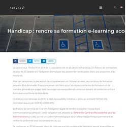 Rendre sa formation e-learning accessible avec Thaleia