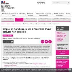 Emploi et handicap : aide à l'exercice d'une activité non salariée - Ministère du Travail, de l'Emploi et de l'Insertion