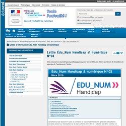 Lettre Édu_Num Handicap et numérique N°03