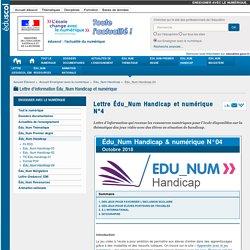 Lettre Édu_Num Handicap et numérique N°4 — Enseigner avec le numérique