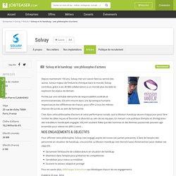 Solvay et le handicap : une philosophie d'actions - Solvay